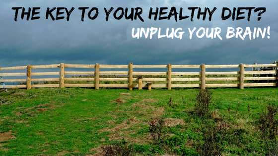 The Key to Your Healthy Diet?  Unplug Your Brain!